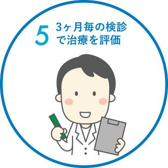 3ヶ月毎の検診で治療を評価
